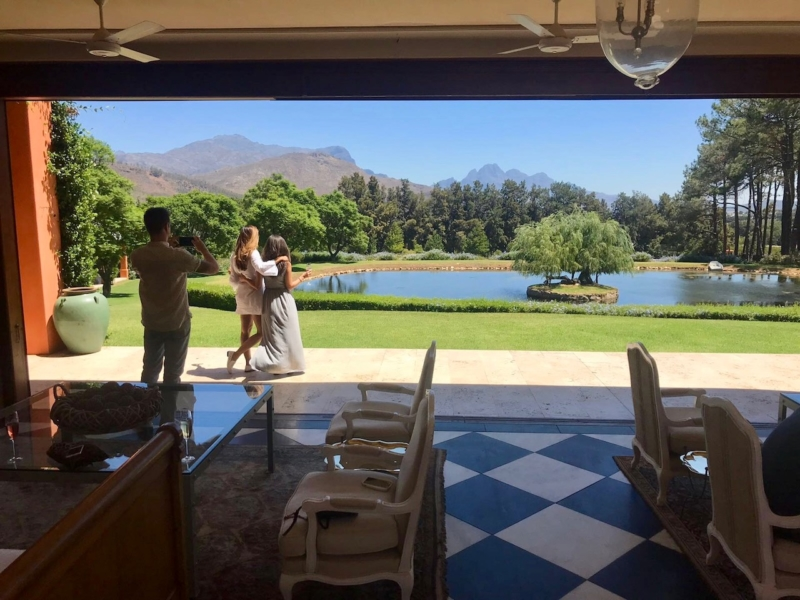 Wine Tasting in South Africa at La Residence Hotel in Franschhoek